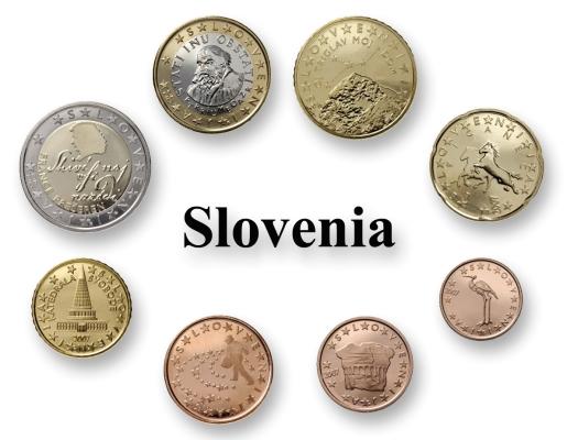 slovenia 2007 euro coin set 1c 2e eur svn 2007 15 00. Black Bedroom Furniture Sets. Home Design Ideas