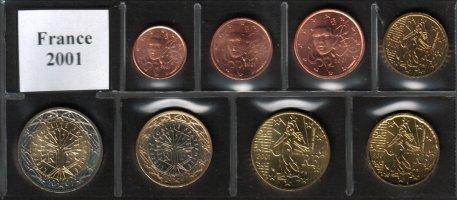 Ranska 2001 Eurokolikkosarja 1c - 2e [EUR FRA 2001] - www.vmtarvike.com 33,50€ Ranska eurokolikot
